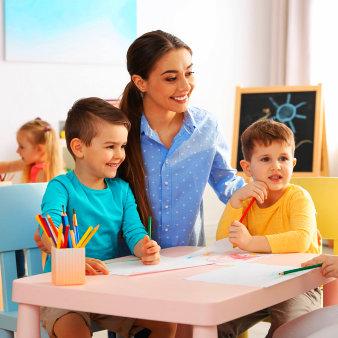 teacher and her pupils